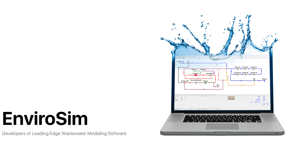 EnviroSIM does leading edge wastewater treatment modelling software